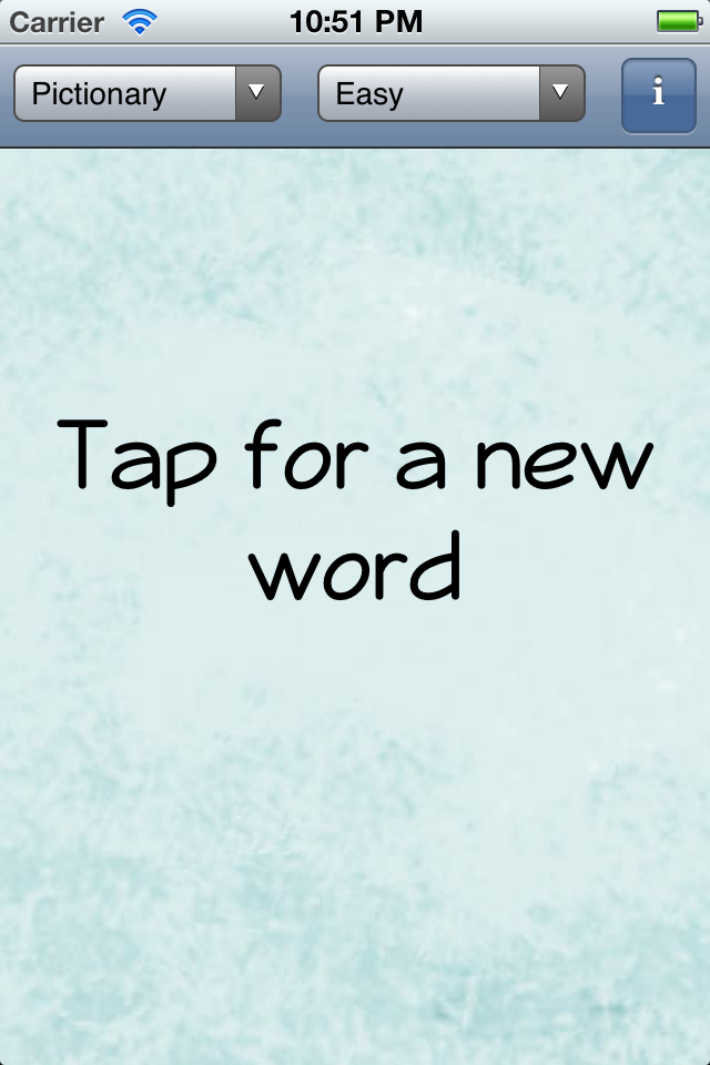Screenshot The Game Gal's Word Generator